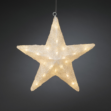 Konstsmide kerstverlichting ster met LED warm wit 40 cm voor buiten