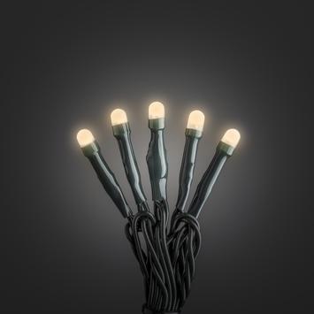Konstsmide kerstverlichting 50 LED clustersnoer extra warm wit voor binnen