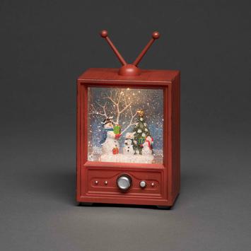 Konstsmide kerstverlichting LED televisie met 3 sneeuwmannen voor binnen