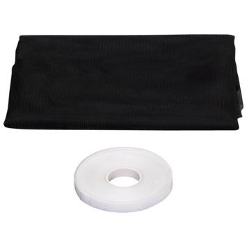 Moustiquaire à velcro basic noir 130x150 cm