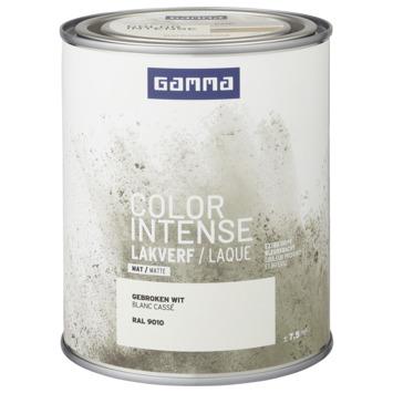 GAMMA color intense binnenlak mat 750 ml gebroken wit