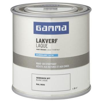 GAMMA binnenlak zijdeglans 250 ml RAL 9010
