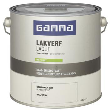 GAMMA laque intérieure mate 2,5 L RAL 9010