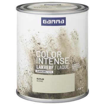 GAMMA color intense binnenlak zijdeglans 750 ml olivijn