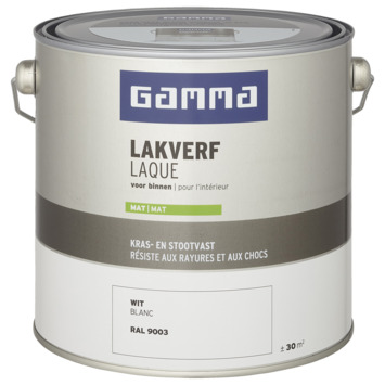 GAMMA laque intérieure mate 2,5 L blanc