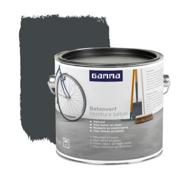 GAMMA Betonverf mat 2,5 L zwartgrijs