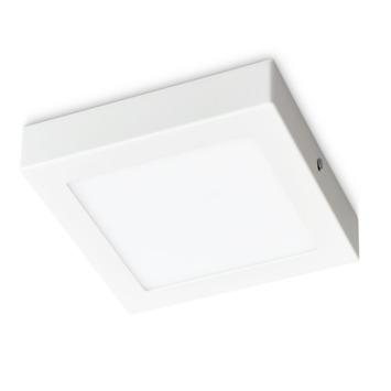 Plafonnier LED integrée Prolight carré 12W 750 Lm blanc