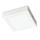 Plafonnier LED integré Prolight carré 12 W 750 lumens blanc
