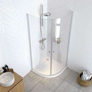 Get Wet douchedeuren Hooked kwartrond 90x90x200 cm hoogglans aluminium