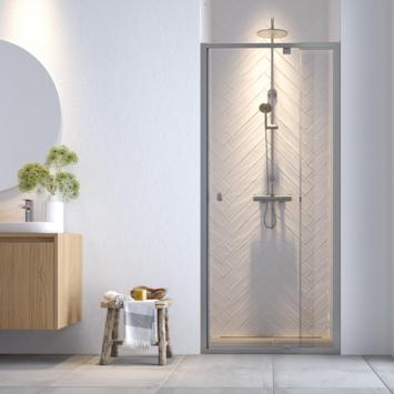 Get Wet douchedeur nis Hooked 100x200 cm verstelbaar hoogglans aluminium