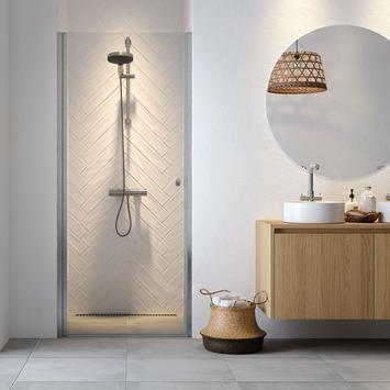Get Wet douchedeur nis Hooked 100x200 cm hoogglans aluminium