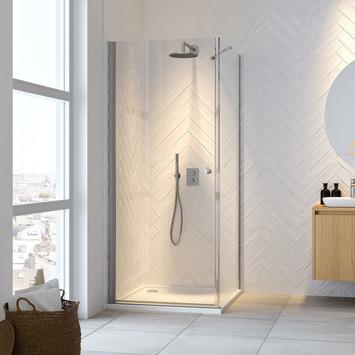 Porte pivotante + paroi latérale Hooked Get Wet 100x100x200 cm
