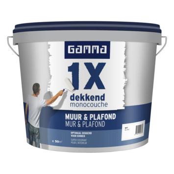 GAMMA 1x dekkend Muur & Plafond mat 5 L wit