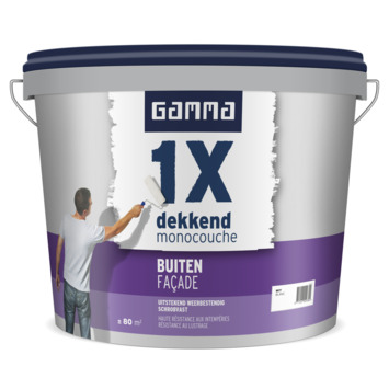 GAMMA 1x dekkend façade wit 10L