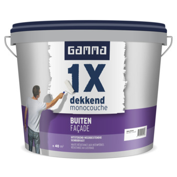 GAMMA 1x Dekkend buiten (façade) mat 5 L RAL9010