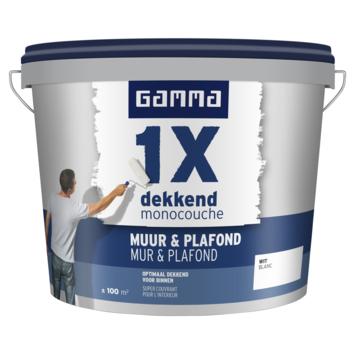 GAMMA 1x dekkend Muur & Plafond 10 L wit