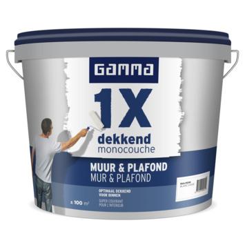GAMMA 1x dekkend Muur & Plafond 10 L RAL 9010