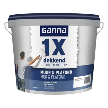 GAMMA 1x dekkend Muur & Plafond mat 5 L RAL 9010