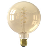 Calex LED filament globe E27 4 W 200 Lm dimbaar goud