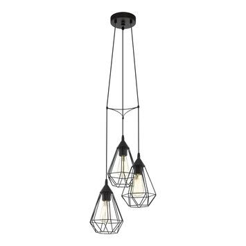 Eglo hanglamp Tarbes 3 x E27 60 W zwart