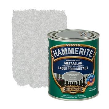 Laque pour métal Hammerite satin gris argent 750 ml