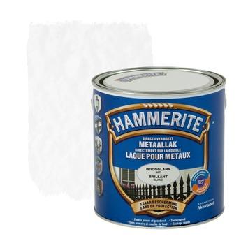 Laque pour métal Hammerite brillant blanc 2,5 L