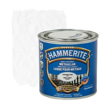Laque pour métal Hammerite brillant blanc 250 ml