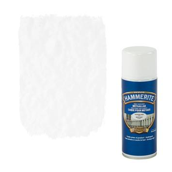 Laque pour métal Hammerite brillant blanc 400 ml