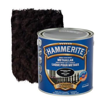 Laque pour métal Hammerite brillant noir 250 ml