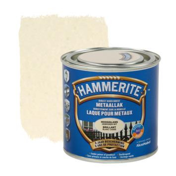 Hammerite metaallak hoogglans gebroken wit 250 ml