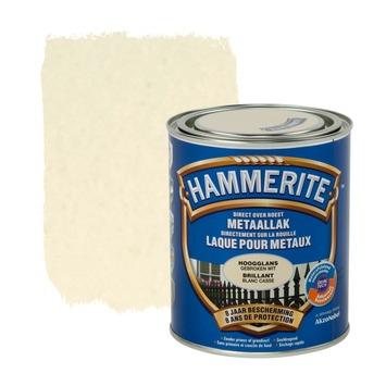 Hammerite metaallak hoogglans gebroken wit 750 ml