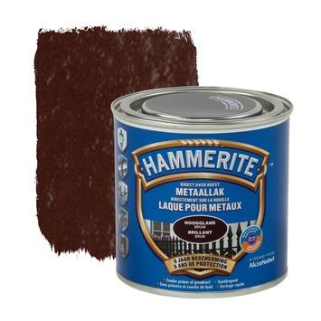 Hammerite metaallak hoogglans bruin 250 ml