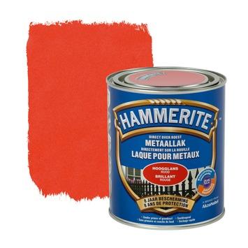 Hammerite metaallak hoogglans rood 750 ml
