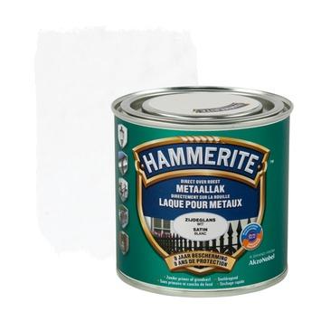 Hammerite metaallak zijdeglans wit 250 ml