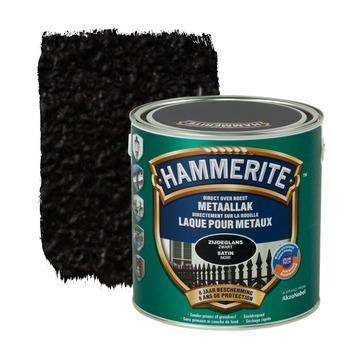 Hammerite metaallak zijdeglans zwart 2,5 L