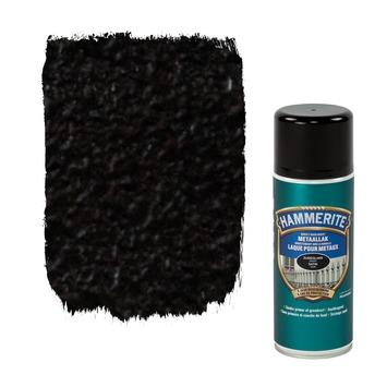 Hammerite metaallak zijdeglans zwart 400 ml