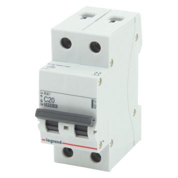 Disjoncteur modulaire Legrand 2 pôles 20 A