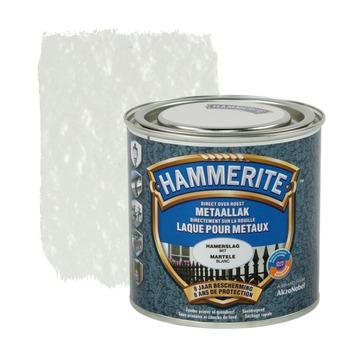 Hammerite metaallak hamerslag wit 250 ml