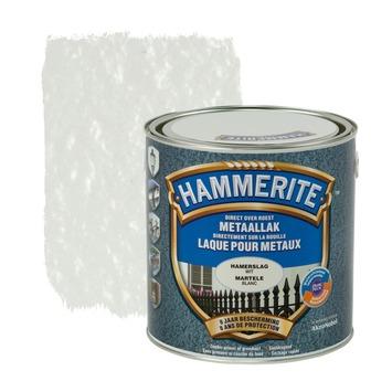 Hammerite metaallak hamerslag wit 2,5 L
