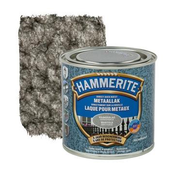 Laque pour métal Hammerite martelé gris foncé 250 ml