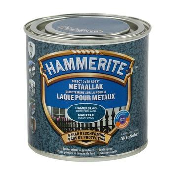 Laque pour métal Hammerite martelé bleu foncé 250 ml