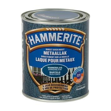 Laque pour métal Hammerite martelé bleu foncé 750 ml