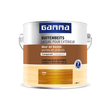 Lasure portes et châssis transparente GAMMA 2,5 L teck