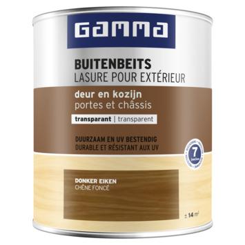 GAMMA ramen en deuren transparant 750 ml donker eik