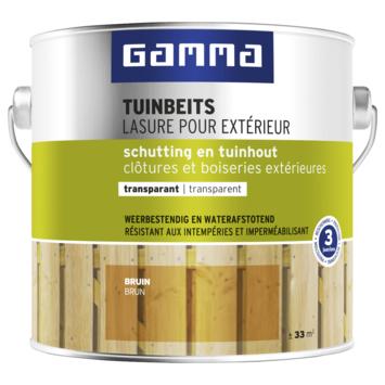 GAMMA tuinbeits schutting & tuinhout bruin 2,5 liter