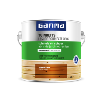 GAMMA tuinhuis transparant 2,5 L donker eik
