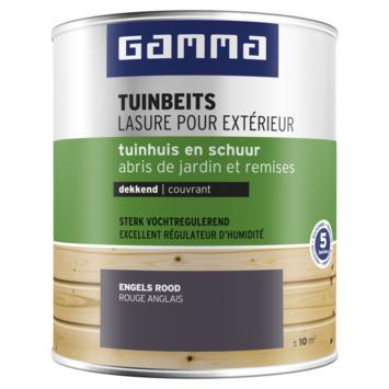 Lasure chalet couleur GAMMA 750 ml rouge anglais