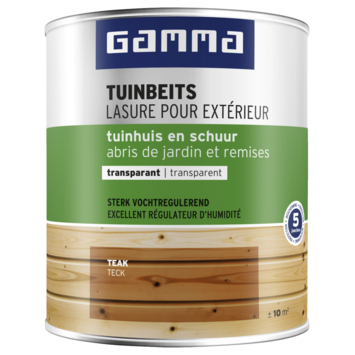 Lasure chalet transparente GAMMA 750 ml teck