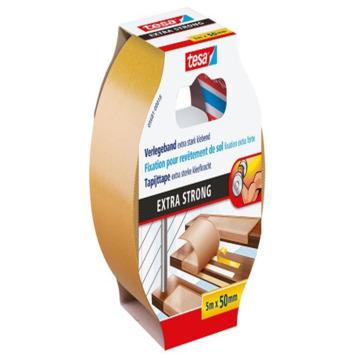 Tesa Ruban adhésif ultra résistant pour tapis 5 m x 50 mm jaune