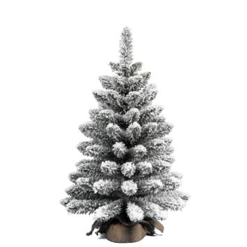 Kunstkerstboom met sneeuw 60 cm